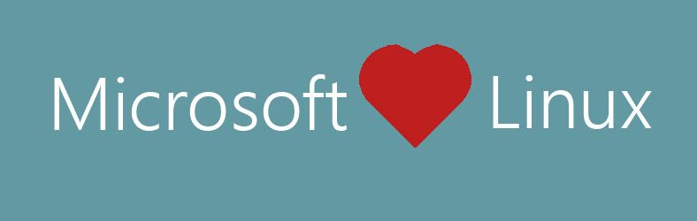 Microsoft heart Linux (Banner)